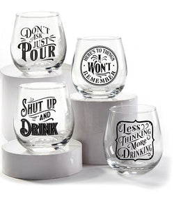 Playful Wine Glass
