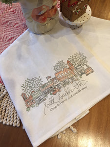 Daisy tea towel