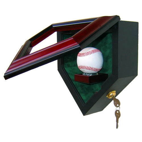 One Baseball Custom Hand Crafted Wood Cabinet Display Case