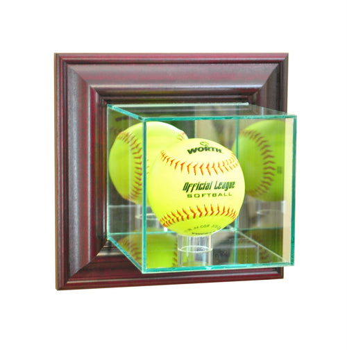 Wall Mounted Softball Glass Display Case