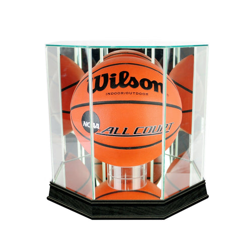 Basketball Octagon Glass Display Case black sport