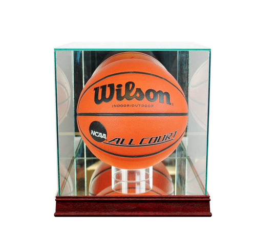 Basketball Rectangle Glass Display Case cherry sport