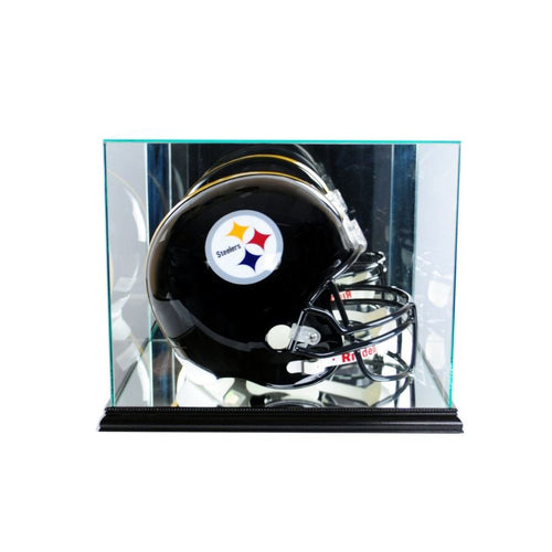 Football Helmet Rectangle Display Case Black