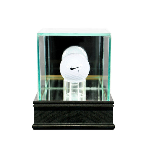 Golf Ball Glass Display Case black sport