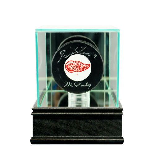 Hockey Puck Glass Display Case black sport