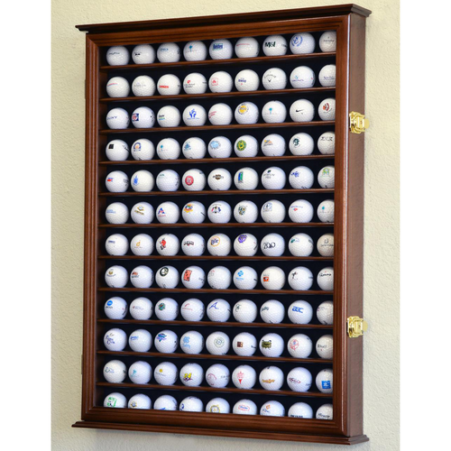 108 Golf Ball Wood Cabinet Display Case