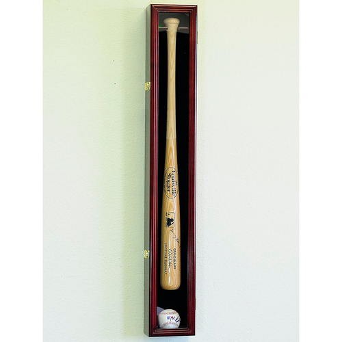 Baseball Bat And Ball Wood Cabinet Display Case