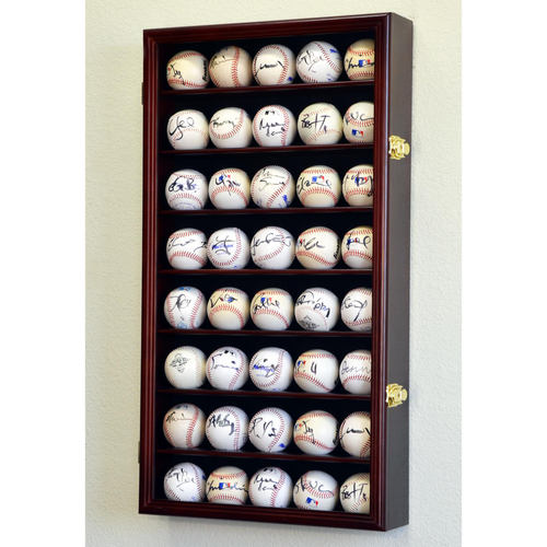 Forty Baseball Square Wood Display Case