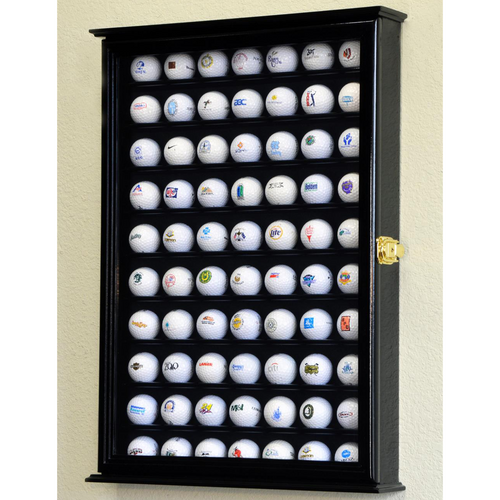 Seventy Golf Ball Wood Cabinet Display Case