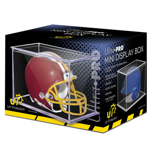 Mini Football Helmet UV Display Case by Ultra Pro