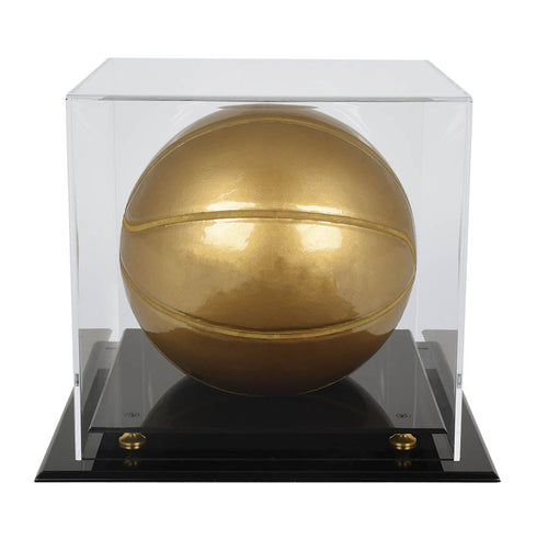 Mini Basketball Display Case with Gold Risers By Ultra Pro