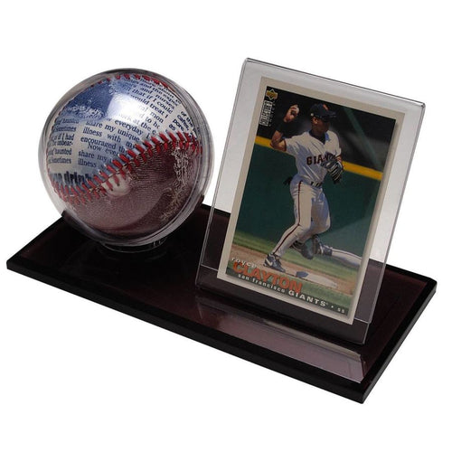 Acrylic Baseball And Card Holder Display Cases