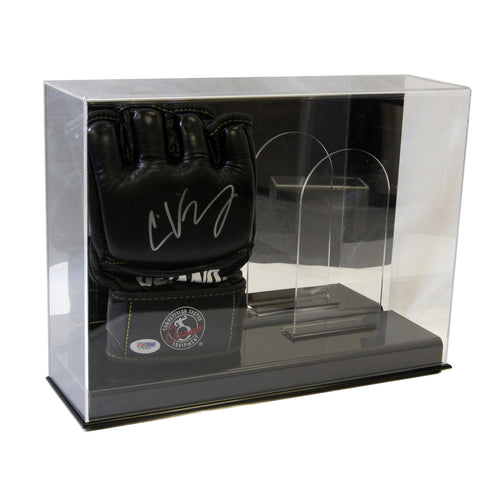 Double MMA Glove Display Case with Mirror Back