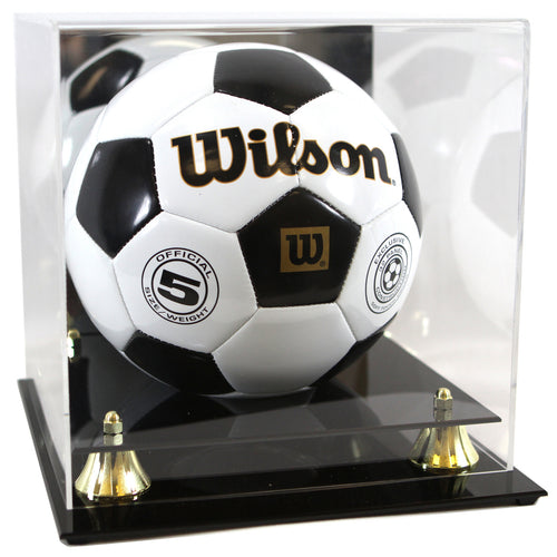 Soccer or Volleyball Premium Display Case with Wall Mount Option