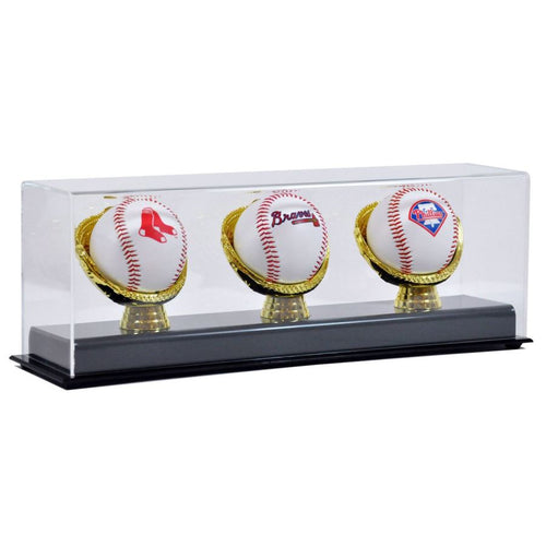 Triple Gold Glove Baseball Display Case Cases