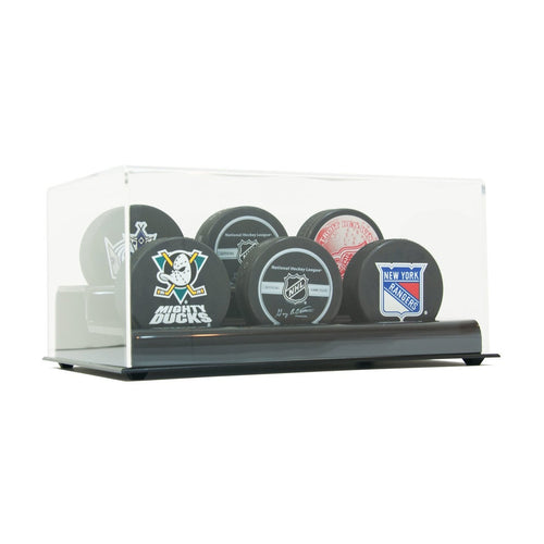 Six Hockey Puck Display Case Acrylic Base