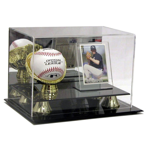 Gold Glove And Card Premium Display Case Saf-T-Gard High Margin