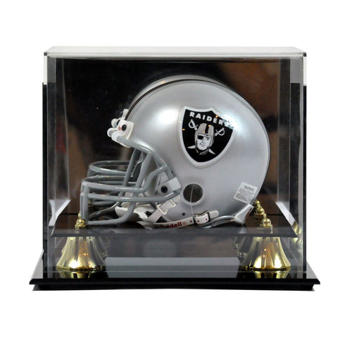 Mini Football Helmet Premium Display Case Wall Mountable