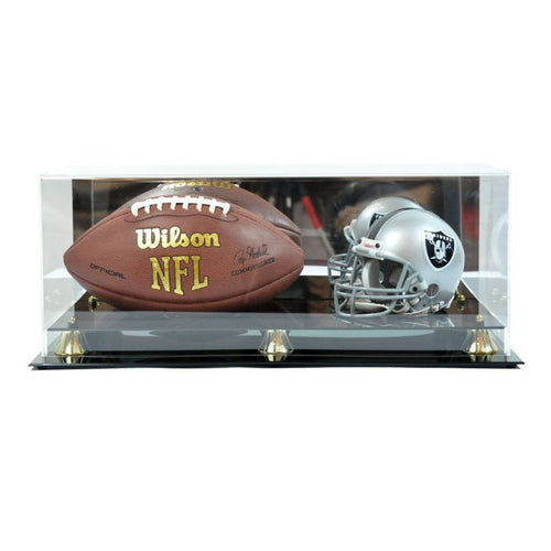 Mini Football Helmet And Football Premium Display Case