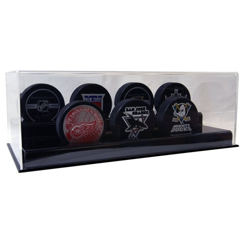 Seven Hockey Puck Display Case Acrylic Base