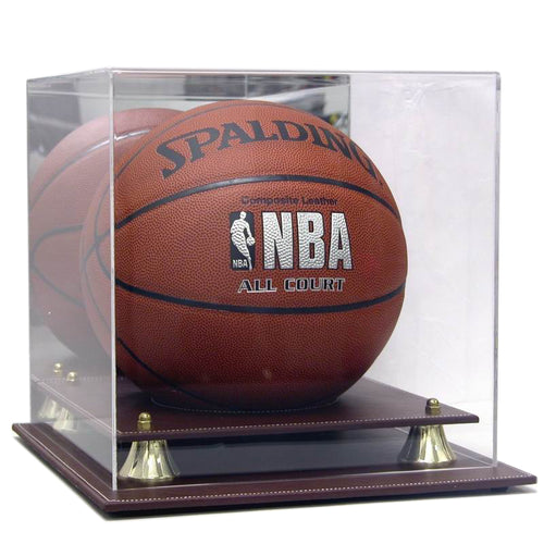 Executive Leather Acrylic Basketball Display Case
