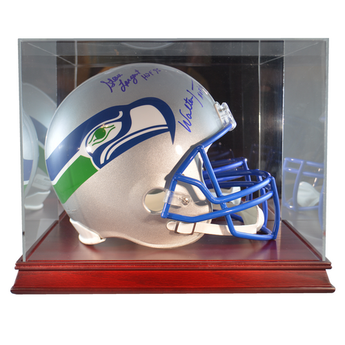 Football Helmet Cherry Wood Base Display Case