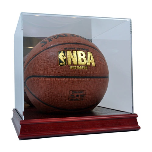 Basketball Cherry Wood Base Display Case
