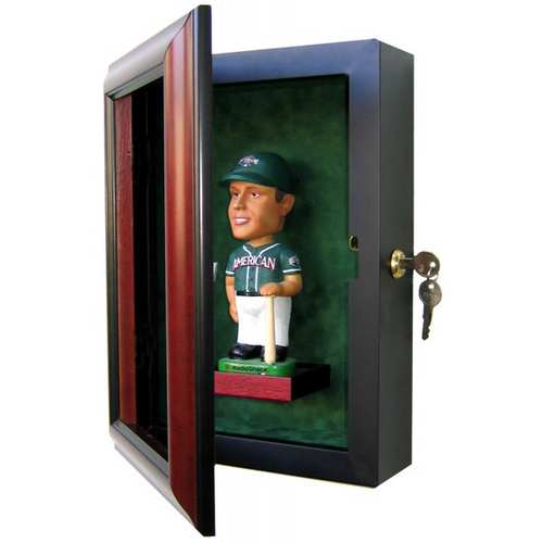 Bobblehead Custom Hand Crafted Wood Cabinet Display Case