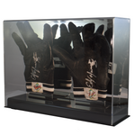 Double Baseball Batting Glove or Football Glove Display Case with Mirror Back