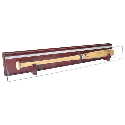 Baseball Bat Wood Base Wall Mount Display Case