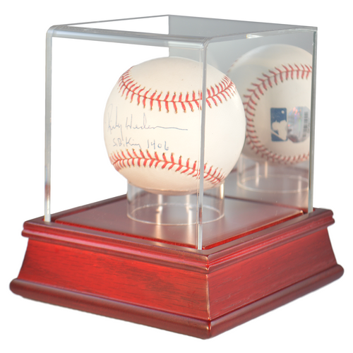 Baseball Cherry Wood Base Display Case
