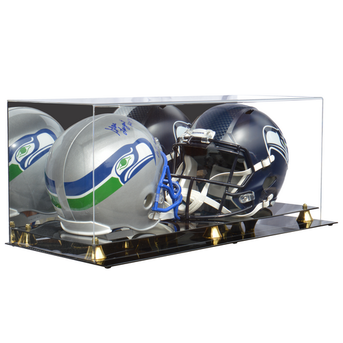 Double Full Size Football Helmet Premium Display Case