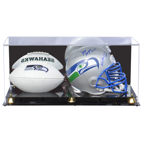 Full Size Football Helmet And Football Premium Display Case