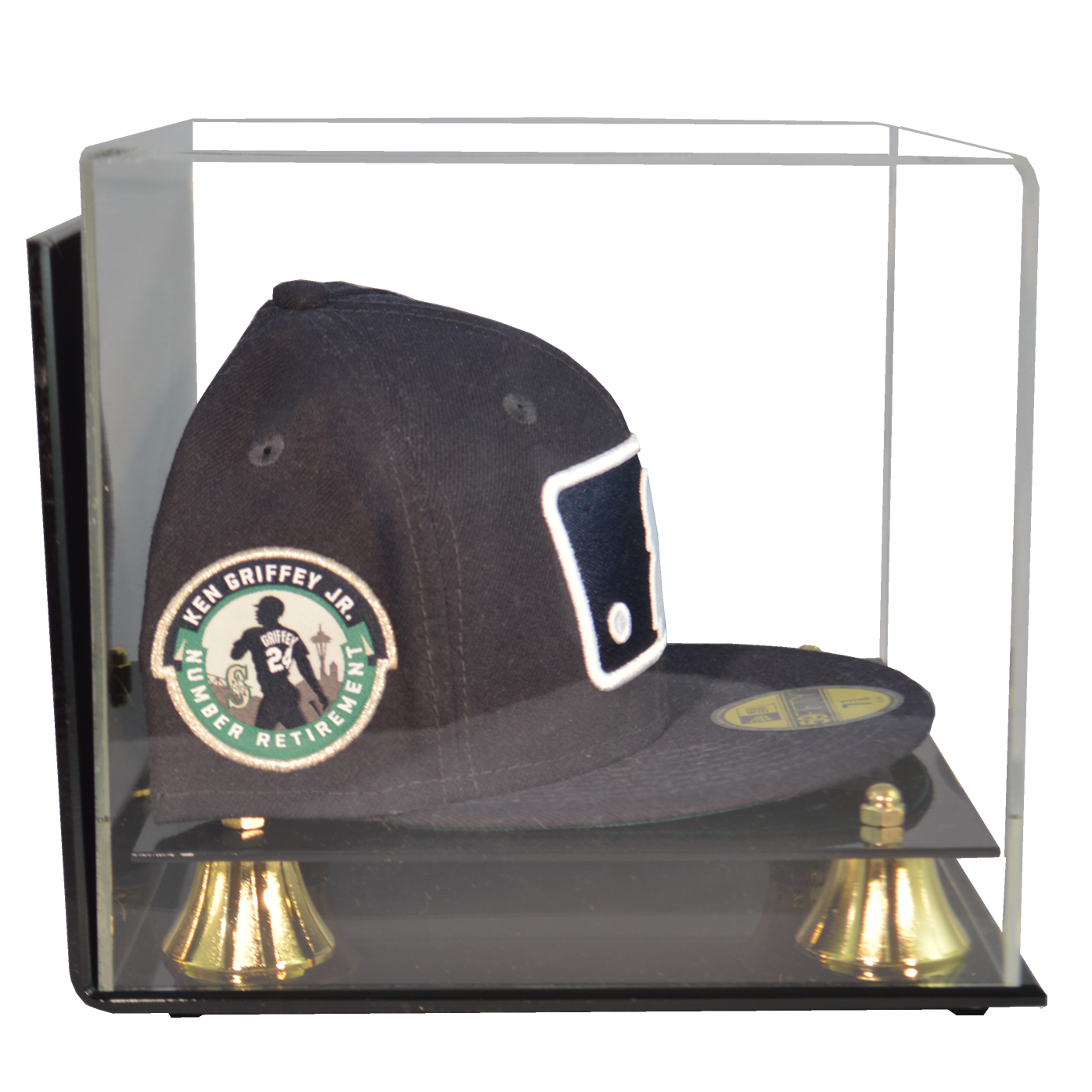 Baseball Hat Premium Display Case Wall Mountable Free Shipping