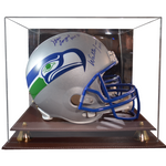 Executive Leather Acrylic Football Helmet Display Case