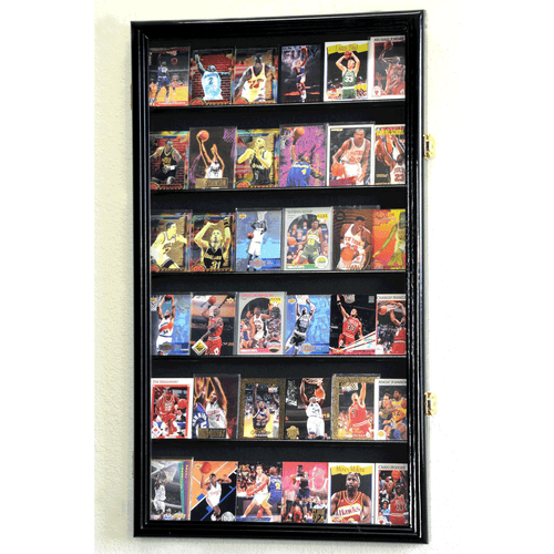 36 Sports Card Display Case Wall Mount Cabinet