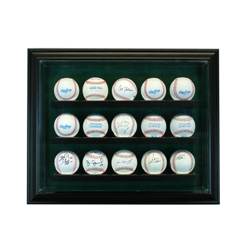 15 Baseball Cabinet Glass Display Case