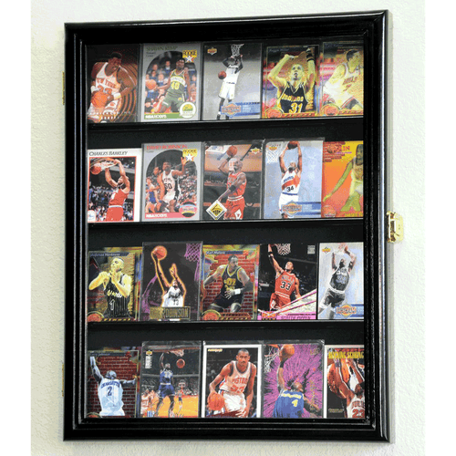 20 Sports Card Display Case Wall Mount Cabinet