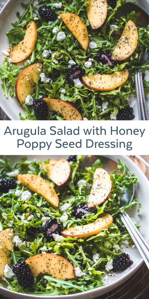Arugula Salad with Honey Poppy Seed Dressing