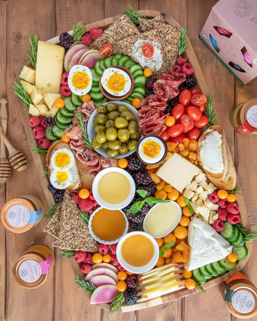Sedona Inspired Cheese Board Platter With Organic Honey
