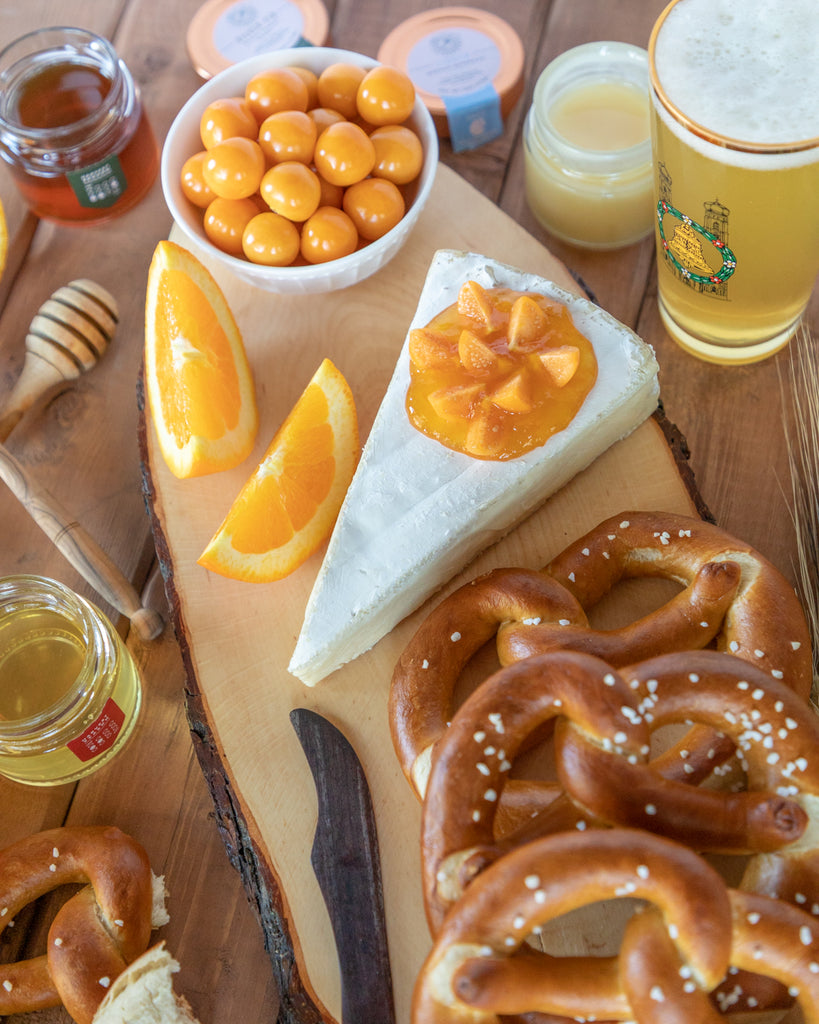 Bavarian Brotzeit with Pretzels and Brie