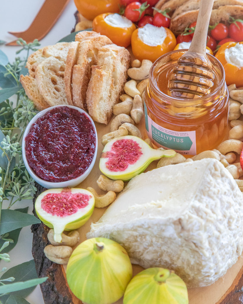 Eucalyptus Honey Cheese Board Homemade Crackers
