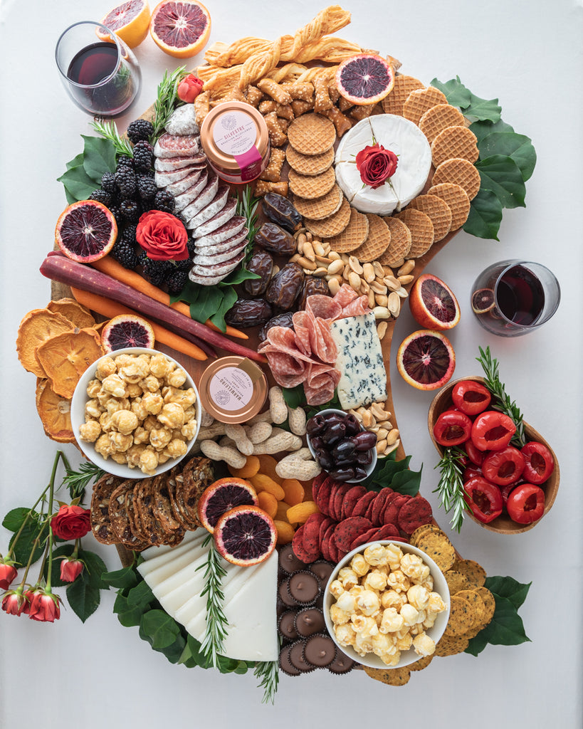 Bee Seasonal Organic Honey Fall Snacking Board Cheese and Wine