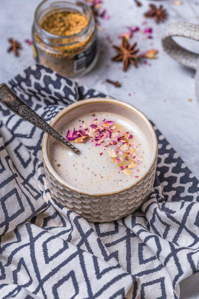 Chai spiced honey latte