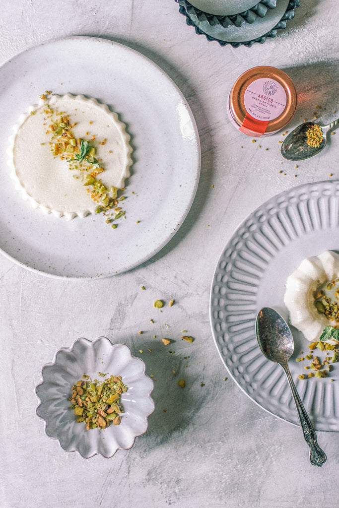 Chamomile honey panna cotta