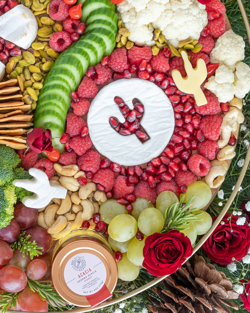 Cactus Christmas Cheese Board