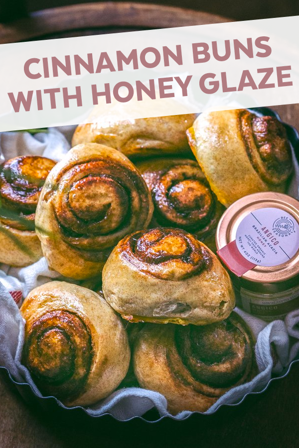 Cinnamon Buns with Honey Glaze