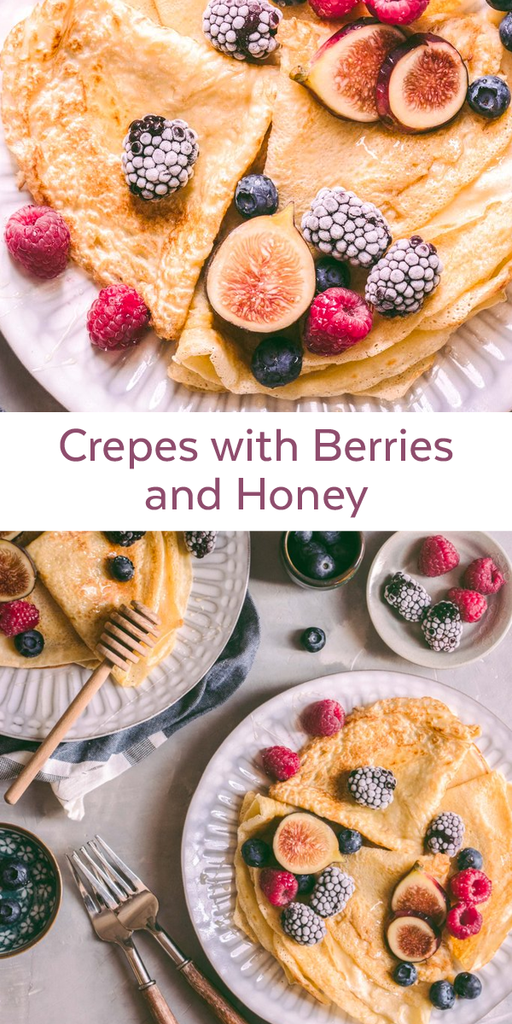 Crepes with Berries and Honey