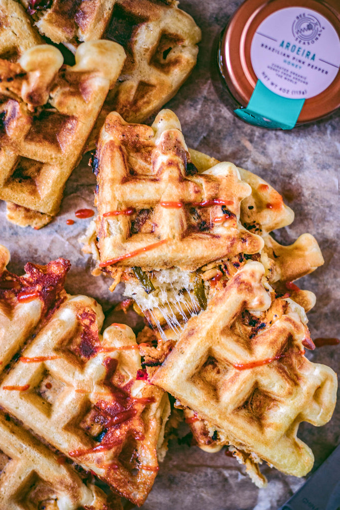 Chicken and Waffle Organic Honey Cheesy Panini