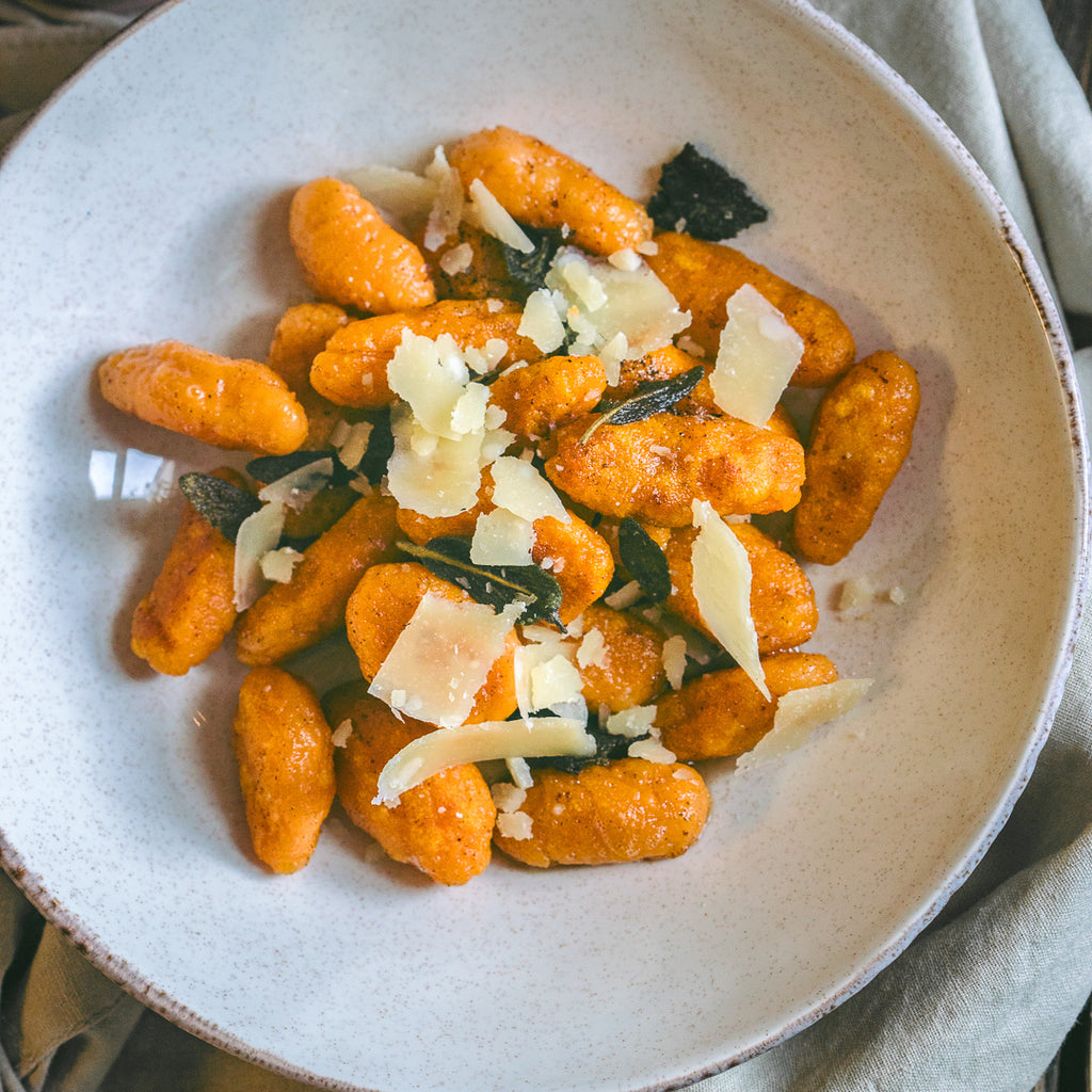 Sweet Potato Gnocchi with Honey Sage Butter